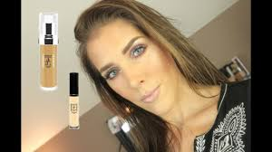 makeup atelier foundation concealer review and demo mandy davis mua you