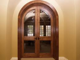 neuenschwander knotty alder round top beveled glass interior doors