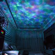 Wave Light Projector Us 8 55 New Upgrade Romantic Ocean Wave Projector Starry Colorful Music Lamp Card Night Light With Remote Controller Drop Shipping In Led Night