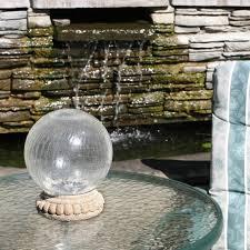 led glass solar gazing ball to enlarge