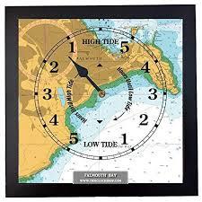 Falmouth Framed Nautical Chart Tide Clock Cornwall Gift
