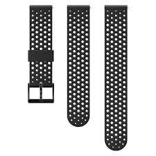 All Black <b>20mm silicone</b> Suunto watch strap for training
