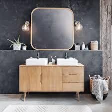 Badezimmermöbel Mit 2 Becken Aus Massivem Mangoholz Trocadero