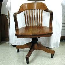 wooden swivel office chair. Vintage Wooden Desk Chair Old Solid Wood Swivel  Chairs Office