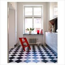 Black U0026 White Checkerboard Floor   Tile Laid This Direction