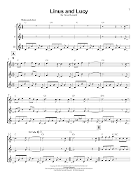 Linus And Lucy By Vince Guaraldi Ukulele Ensemble Guitar
