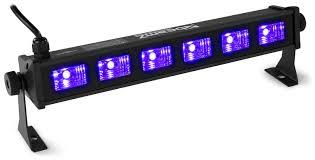 Uv Light Nz Uv Blacklight Led Bar Bright And Light 6x 3 Watt Uv Leds