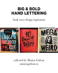 mega weird big and bold hand lettering book cover design inspiration