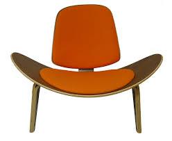 Replica Hans Wegner Shell Chair Premium Wool Orange