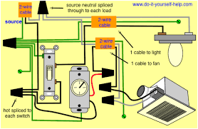 wiring diagram exhaust fan light switch wiring schematics and bathroom heater wiring diagram nutone heat l fan