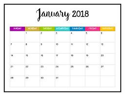 Create a free printable calendar. 2018 Printable Calendar 2018 Wall Calendar Pages Bright And Printable Calendar Pages Calendar Printables 2018 Printable Calendar