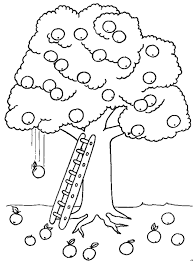 amazing apple tree printable coloring pages for kids | craft ideas ...