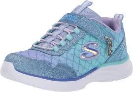 Light Blue Skechers Kids Glimmer Kicks Sea Sparkle Sneaker