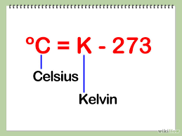 and to convert kelvin to celsius we subtract 273