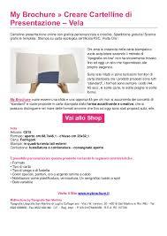 Formati Brochure Stampare Cartelline Fustellate Vela My Brochure
