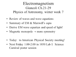 speed of light equation physics. electromagnetism giancoli ch.21-29 physics of astronomy, winter week 7 speed light equation f