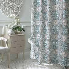 bathroom diamond patterned linen shower curtain ruffle grey dry shower curtains rectangle rug beside wooden shelves