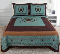 Amazon.com: 3-piece Western Lone Star Barb Wire Cabin / Lodge ... & Amazon.com: 3-piece Western Lone Star Barb Wire Cabin / Lodge Quilt  Bedspread Coverlet Set Turquoise (Queen): Home & Kitchen Adamdwight.com