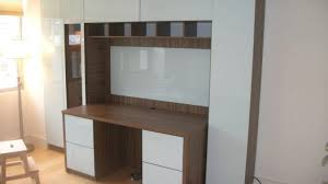 Wall Desk Unit Custom With Extra Home Office Storage Contempo Space Blog ...