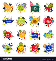 Welcome Back Graphics Set Of Welcome Back To School Badge