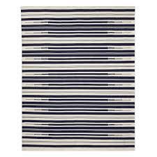 aura stripe indoor outdoor rug 8x10 navy