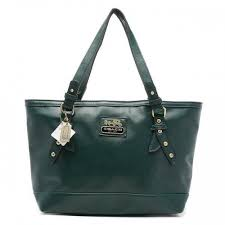 Coach City Saffiano Large Green Totes ANZ