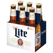 Miller Light Six Pack Miller Lite Beer American Lager 6 Pack Light Beer 12 Fl
