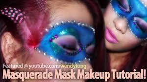 steel blue masquerade mask makeup tutorial
