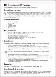 data center engineer resumes noc engineer cv sample myperfectcv