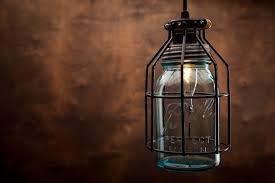 austin mason jar pendant lamp diy