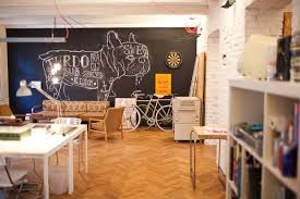rustic modern office. Indoor+painted+brick+office | And Wife: Ergonomic Office Rustic Modern R