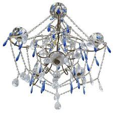 cobalt blue clear crystal chandelier