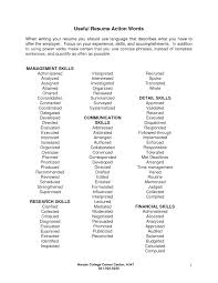 Strong Resume Words Updated Resume Action Words Resume Action Words