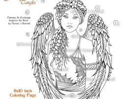 Small Picture Angel Blessing Fairy Tangles Adult Printable Coloring Pages by