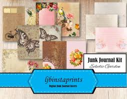 Garden Design Journal Unique Eclectic Garden Junk Journal Kit DIY Junk Journal Kit Etsy