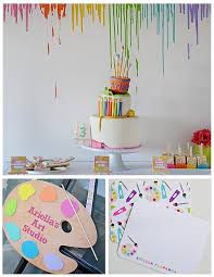 art themed 3rd birthday party