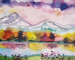 fall reflections watercolor paint class with julia ward