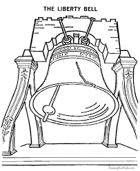 Patriotic Symbols Liberty Bell Coloring Pages 016
