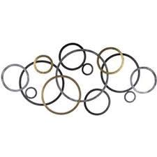 tuscan bronze metal connecting circle