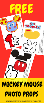 Mickey Mouse Party Printables Free Free Photo Props Mickey Mouse Printable Templates Photo Booth
