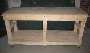 shed workbench diy