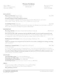 Resume Format College Student Custom College Resumes Examples College Student Resume Sample Resume