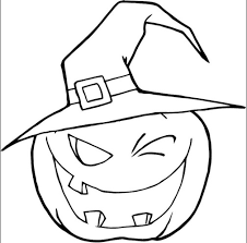 Small Picture Scary Pumpkin Coloring Page Coloring Book