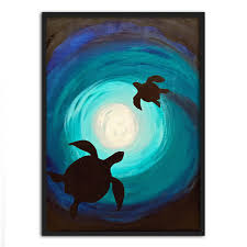 turtle wall art painting