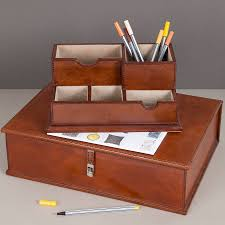 The Sussex Leather Desk Set