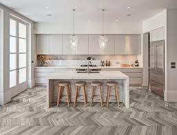 wood effect chevron tile