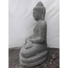 seated stone buddha outdoor garden