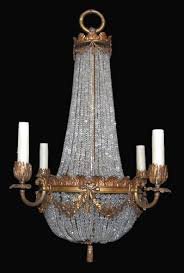 antique french crystal basket chandelier latique antiques with regard to prepare 13