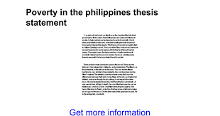 poverty in the thesis statement google docs