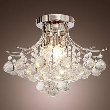 crystal chandelier lighting loco chrome finish with 3 lights mini style